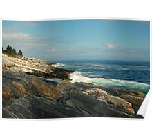 Pemaquid Coastline, Maine Poster