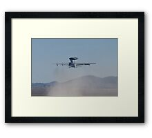 E-3A Sentry NATO AWACS, LX-N90446, Kicking Up Sand Framed Print