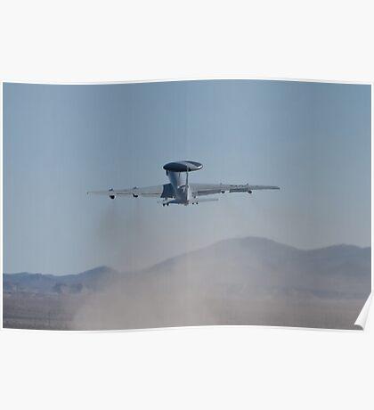 E-3A Sentry NATO AWACS, LX-N90446, Kicking Up Sand Poster