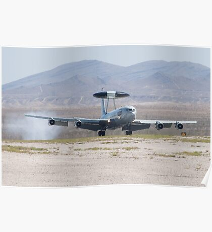 E-3A Sentry OK AF 75 0560 Touches Down Poster
