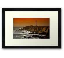 Pt Arenas Lt House Sunset Framed Print