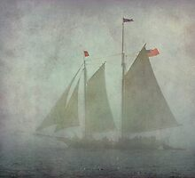 Maine schooner Steven Taber in the fog by Jeremy D'Entremont