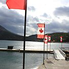 Flags a flutter at a Canadian lake by Andy Newham