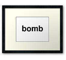 bomb Framed Print