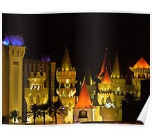 Excalibur Hotel and Casino at Night Poster