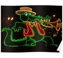 Orleans Casino Neon Alligator Poster