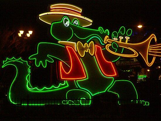 Orleans Casino Neon Alligator by Henry Plumley