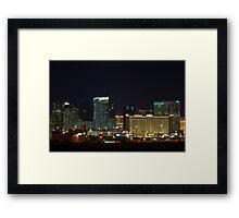 MGM City Center at Night Framed Print