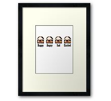 Sloth Emotions Framed Print