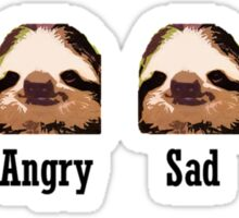 Sloth Emotions Sticker