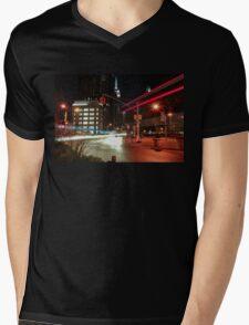 Empire State Lights Mens V-Neck T-Shirt