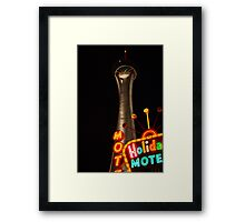 Stratosphere and Holiday Motel Framed Print