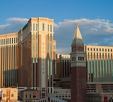 Venetian Hotel Las Vegas at Sunset  by Henry Plumley