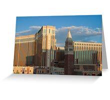 Venetian Hotel Las Vegas at Sunset  Greeting Card