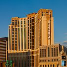 Palazzo Hotel Las Vegas at Sunset by Henry Plumley