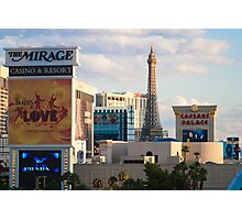 Tight Shot of Las Vegas Strip at Sunset  Photographic Print
