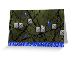 Pixel Supernatural Hell Greeting Card