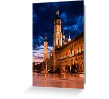Plaza del Pilar Greeting Card