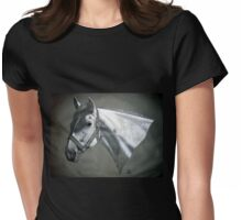 Grey on Gray Womens Fitted T-Shirt