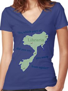 From Libraria Women's Fitted V-Neck T-Shirt