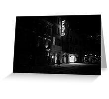 At Night When The City Pauses - East Village - New York City Greeting Card