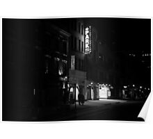 At Night When The City Pauses - East Village - New York City Poster