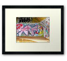 Brooklyn Graffiti Framed Print