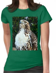 Adult Red Tailed Hawk Womens Fitted T-Shirt