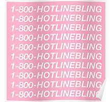 DRAKE - HOTLINE BLING Poster