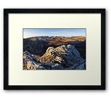 Top of the Velebit Framed Print