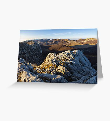 Top of the Velebit Greeting Card