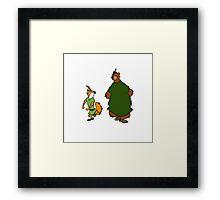Robin Hood and Little John Framed Print