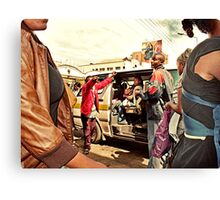 Getting a taxi Canvas Print