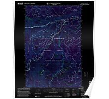 USGS Topo Map Washington State WA Old Scab Mountain 242932 2000 24000 Inverted Poster