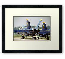 Blue Angels F/A-18 Framed Print