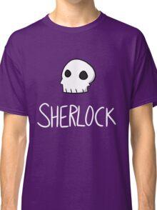 Sherlock - White Lettering Classic T-Shirt