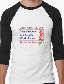Global Priorities Checklist Men's Baseball ¾ T-Shirt