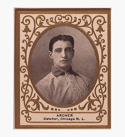 Benjamin K Edwards Collection Jimmy Archer Chicago Cubs baseball card portrait Photographic Print