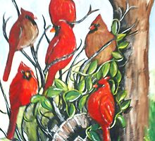 Red Cardinal Bird's Storytime by dorcas13
