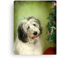 """ I Hope There Really Is A Santa Paws . . ."" Canvas Print"