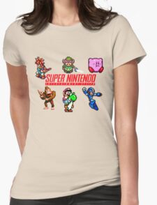 Super Nintendo Womens Fitted T-Shirt
