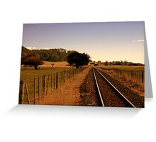 Keeping the cattle off the tracks Greeting Card