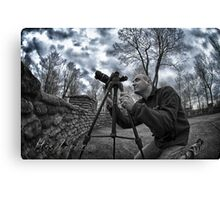 Photography of a photographer Canvas Print