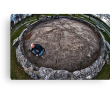 Overhead view of Photographing the photographer Canvas Print
