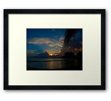 Sunset Waikiki Beach Framed Print