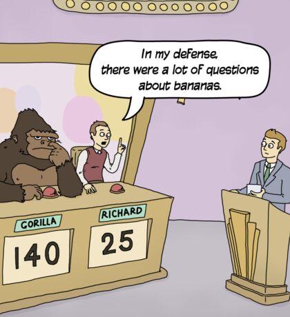 Insert hilarious gorilla/gameshow related pun here. Sticker