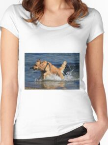 Doggone Fun Women's Fitted Scoop T-Shirt