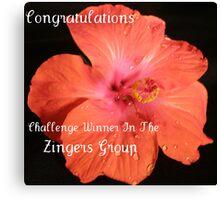 Zinger Challenge Banner Canvas Print