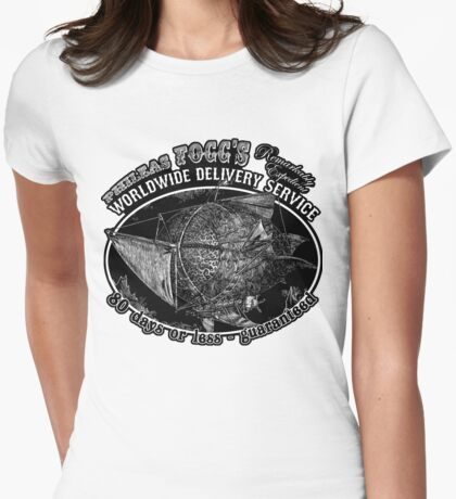 Around the World in 80 Days Tee or Hoodie Womens Fitted T-Shirt