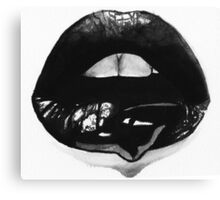 Ink Lips Canvas Print